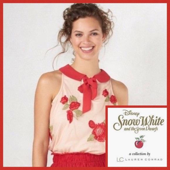 0451d4243b2af LC Lauren Conrad Disney Snow White Rose Blouse L